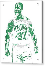 Semi Ojeleye Boston Celtics Pixel Art 1 Acrylic Print