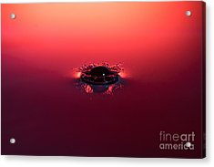 Semi Submerged Droplet Acrylic Print