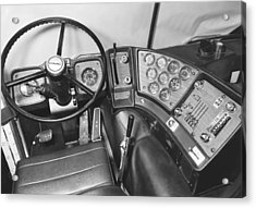 Semi-trailer Cab Interior Acrylic Print by Underwood Archives