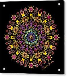 Semi-tribal Rotation Acrylic Print