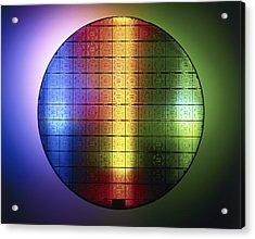 Semiconductor Wafer Acrylic Print by Pasieka
