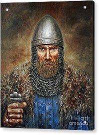 Semigalian Chieftain Acrylic Print by Arturas Slapsys