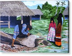 Seminole Canoe Acrylic Print
