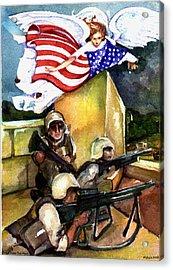 Semper Fideles -  Iraq Acrylic Print by Elle Smith  Fagan