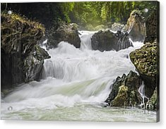 Acrylic Print featuring the photograph Semuch-champey River And Waterfalls by Yuri Santin