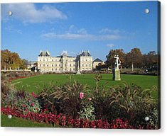 Acrylic Print featuring the photograph Senate From Jardin Du Luxembourg by Christopher Kirby
