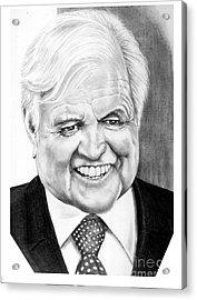 Senator Edward Kennedy Acrylic Print by Murphy Elliott