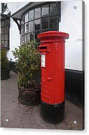 Send A Message Home - Royal Mail Post Box Acrylic Print