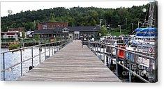 Seneca Lake Pier Watkins Glen New York Acrylic Print