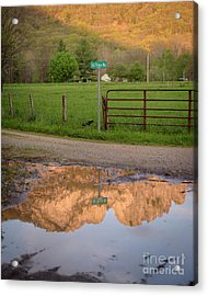 Seneca Rocks Reflection Acrylic Print by Dr Regina E Schulte-Ladbeck