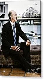 Senior Executive With Positive Future Outlook Acrylic Print by Jorgo Photography - Wall Art Gallery