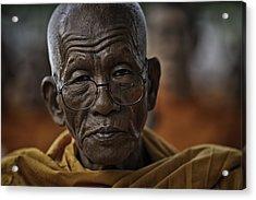 Senior Monk 2 Acrylic Print by David Longstreath