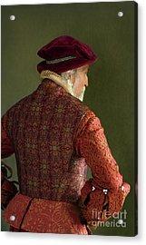 Acrylic Print featuring the photograph Senior Tudor Man by Lee Avison