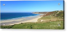Sennen Cove - Panoramic Acrylic Print by Carl Whitfield