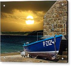 Sennen Cove Cornwall Acrylic Print by Martin Newman