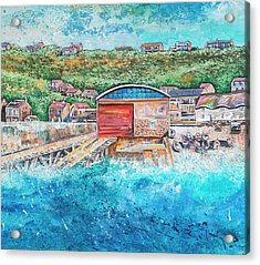 Sennen Cove Acrylic Print by Diane Griffiths