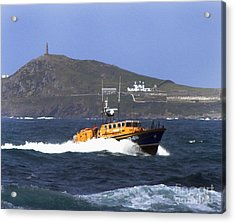 Sennen Cove Lifeboat Acrylic Print by Terri Waters