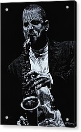 Sensational Sax Acrylic Print by Richard Young