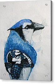 Sentimental Blue Acrylic Print by Patricia Arroyo