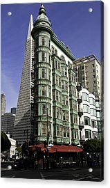 Sentinel Building San Francisco Acrylic Print by Paul Plaine