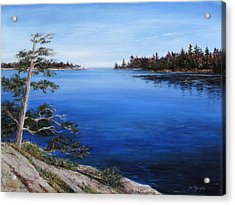 Acrylic Print featuring the painting Sentinel by Jan Byington
