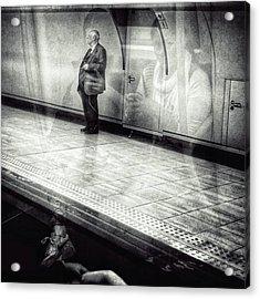Señor #metro #underground #subway Acrylic Print by Rafa Rivas