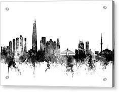 Seoul Skyline South Korea Acrylic Print