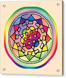 Sephardic Medieval Mandala Acrylic Print