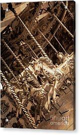 Sepia Carousel Horse Acrylic Print