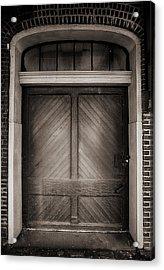 Sepia Doorway Acrylic Print