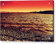 Sepia Lake Acrylic Print by Mickey Harkins
