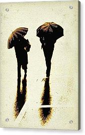 Sepia Rain Acrylic Print