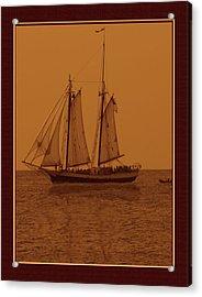 Sepia Sail Boat Acrylic Print by John Breen