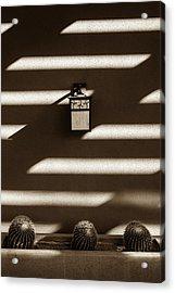 Sepia Stucco Shadows Acrylic Print