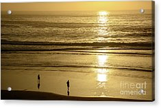 Acrylic Print featuring the photograph Sepia Sunset by Susan Wiedmann