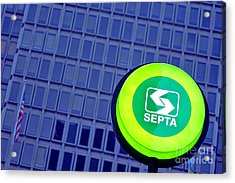 Septa Sign Acrylic Print by Olivier Le Queinec