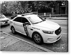 septa southeastern pennsylvania transit authority transit police ford cruiser patrol car Philadelphi Acrylic Print
