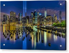 September 11 Nyc Tribute Acrylic Print by Susan Candelario