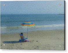 September Beach Reader Acrylic Print