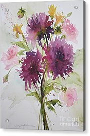 September Dahlias Acrylic Print