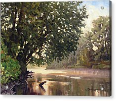 September Dawn Little Sioux River - Plein Air Acrylic Print