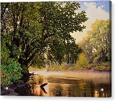September Dawn, Little Sioux River - Studio Painting Acrylic Print