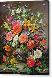September Flowers   Symbols Of Hope And Joy Acrylic Print by Albert Williams