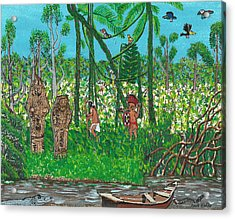 September   Hunters In The Jungle Acrylic Print