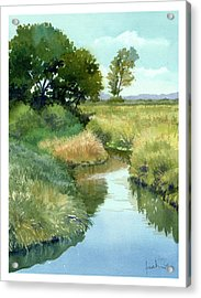 September Morning, Allen Creek Acrylic Print