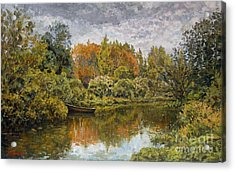September. On The River Acrylic Print by Andrey Soldatenko