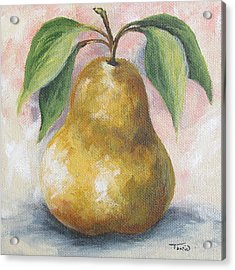 September Pear I  Acrylic Print by Torrie Smiley