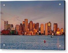 September Sunrise Over Boston, Boston, Massachusetts Acrylic Print