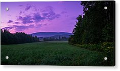 Acrylic Print featuring the photograph September Twilight by Chris Bordeleau