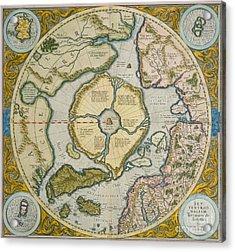 Septentrionalium Terrarum Descriptio Acrylic Print by Gerardus Mercator